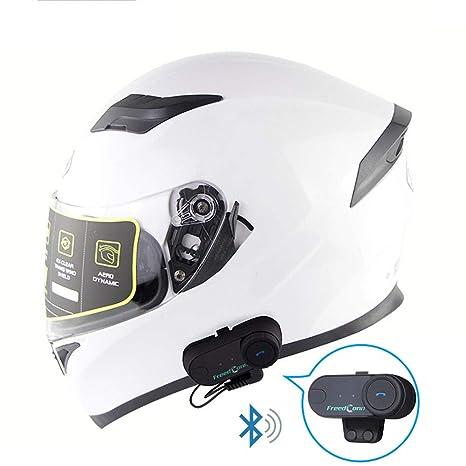 WLJBY Smart Multifunción walkie-Talkie Casco Moto Bluetooth ...