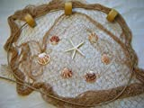 10 X 9 Fishing Net, Fish Nets, Netting, Starfish, Sea Shells, Nautical Decor,