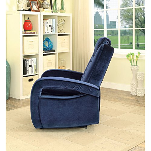Major-Q Contemporary Style Recliner with Power Button Charge Dock Armrest