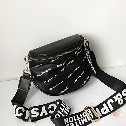 Summer Personality And Fashion Style 2018 Shoulder Black New Bag Single Broadband wqUFfXgx