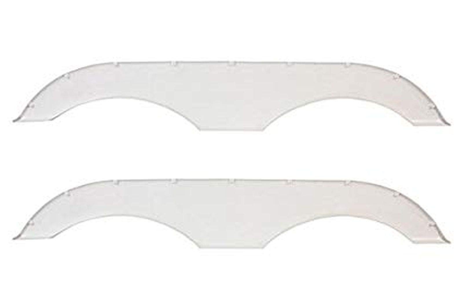 Alpha Systems Pair of Tandem Trailer Fender Skirt - White by Alpha Systems