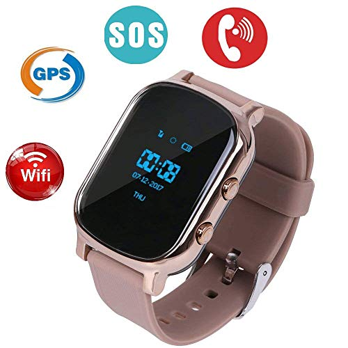 Hangang GPS Tracker For Kids Children Smart Watch Kids Wrist Watch T58 Anti-lost SOS Call Location Finder Remote Monitor Pedometer Functions Parent Control iPhone Android Smartphones APP (gold)(T58G) by Hangang (Image #6)