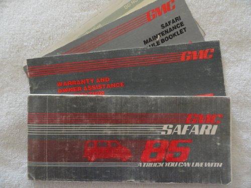 1985 GMC Safari Owners Manual