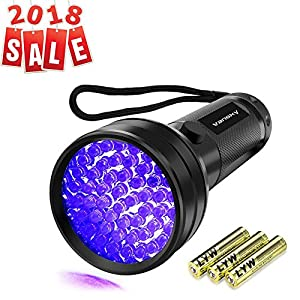 UV Flashlight Black light UV Lights, Vansky 51 LED Ultraviolet Blacklight Pet Urine Detector For Dog/Cat Urine,Dry Stains,Bed Bug, Matching with Pet Odor Eliminator from Vansky