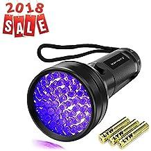 Black Light UV Lights UV Flashlight, Vansky 51 LED Ultraviolet Blacklight Pet Urine Detector For Dog/Cat Urine,Dry Stains,Bed Bug, Matching with Pet Odor Eliminator (3AA Batteries Included)