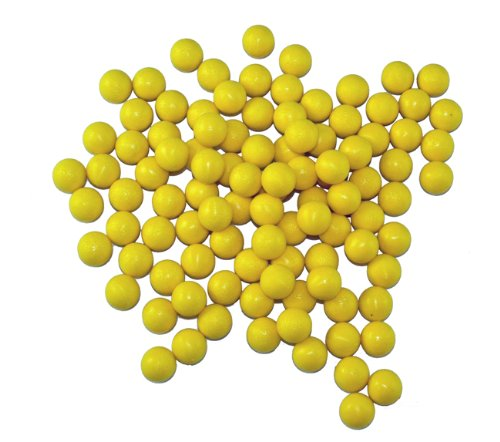GXG Paintball Rubber 100 Reusable Paintballs - Yellow by GXG