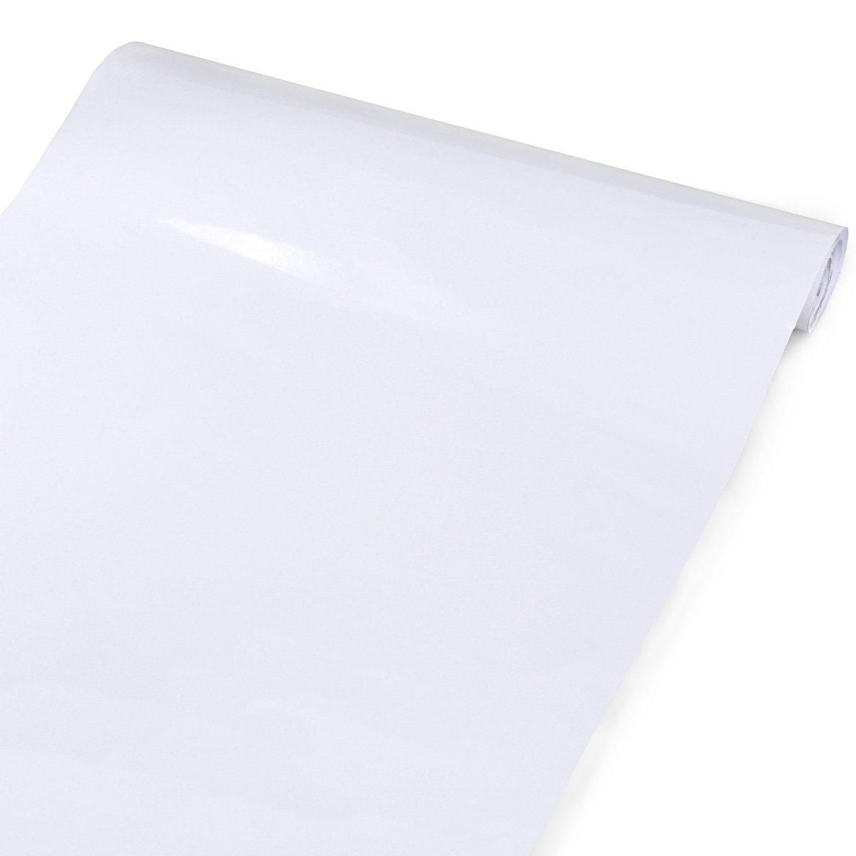 5m x 61cm rouleau Papier peint PVC étanche autocollant blanc ...