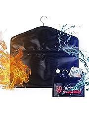 LiveBe Hanger Fireproof Diversion Safe,Hidden Pocket Safe,Secret Safe for Money Stash,Water Resistant Pocket Safe Under Clothes