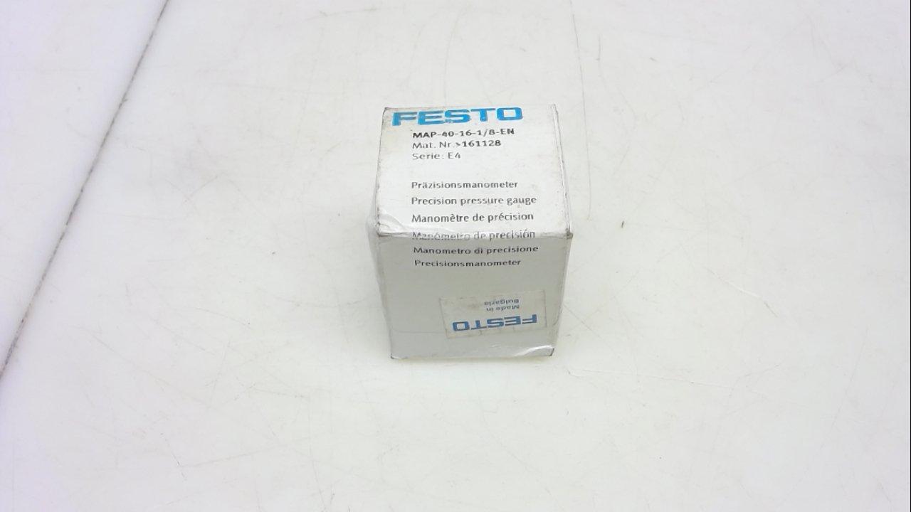 Festo Map-40-16-1/8-En, Precision Pressure Gauge, 0-16 Bar Map-40-16-1/8-En