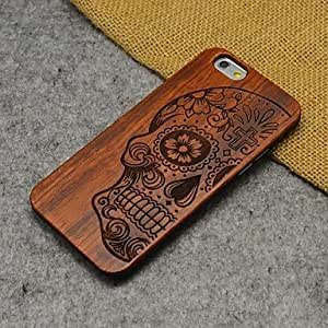 WQQ Wood Human Skeleton Carving Concavo Convex Hard Back Cover for iPhone 6