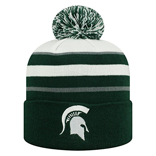 Top of the World Michigan State Spartans Official NCAA Cuffed Knit Skyview Stocking Stretch Sock Hat Cap Beanie 479156 (Michigan State Stocking Cap)