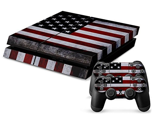 CSBC Skins Sony PS4 Design Foils Faceplate Set - Usa 2 Design