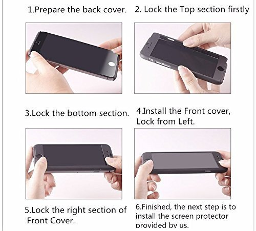 SDO-Protective-Slim-Fit-360-Hybrid-Body-Cover-Case-with-Tempered-Glass-for-Oppo-F1-Plus-Black