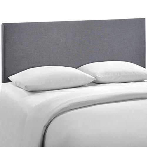 Modway Region Upholstered Linen Headboard Queen Size In Smoke by Modway