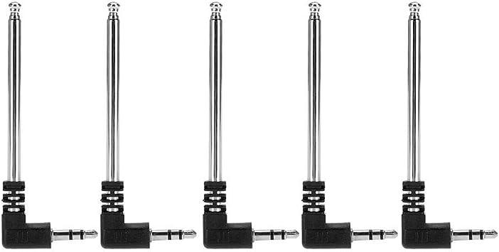 Antena telescópica de radio FM de alta ganancia y señal fuerte, antena de conector portátil DC3.5 5 piezas