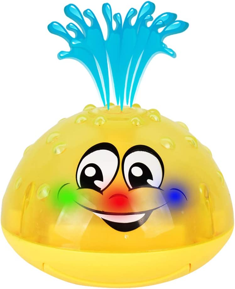 HLXY Bath Toy, Spray Water Squirt Toy LED Light Up Float Toys Bathtub Shower Pool Bathroom Toy for Baby Toddler Infant Kid Water Electronic Sprayer