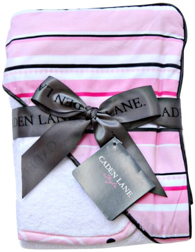 Caden Lane Luxe Collection Pinstripe Hooded Towel Set - 1