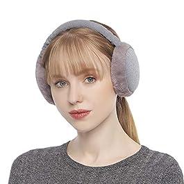 Zeltauto Women's Winter Earmuffs Adjustable Full Surround Faux Fur Ear Warmer
