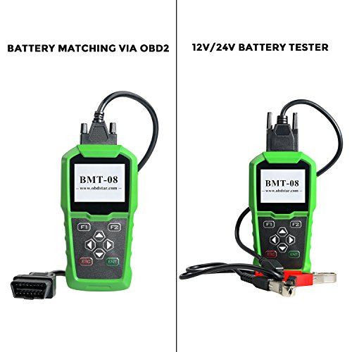 Obdstar BMT-08 12V/24V Automotive Battery Tester and Battery Matching Tool OBD2 Battery Configuration Tool Digital Battery Analyzer for Cars and Heavy Duty Trucks by Obdstar (Image #1)