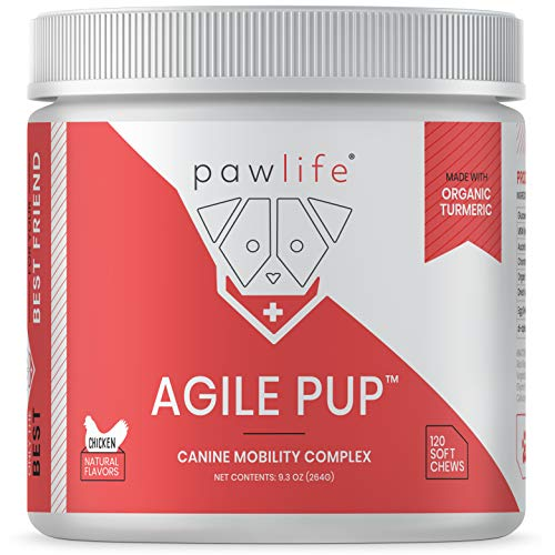 pawlife Glucosamine for Dogs - Joint Supplement for Dogs formulated with Glucosamine, Chondroitin, MSM, Vitamins and Organic Turmeric for Joint Support in Dogs of All Ages - 120 Natural Soft Chews (Side Effects Of Glucosamine Chondroitin Msm In Dogs)