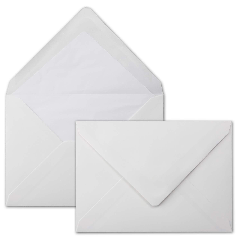Buste Bianco–DIN C5–Foderata Con Carta velina–100G/M²–229X 162mm   Bianco Polare   neuser seta Polar 100 Stück bianco polare