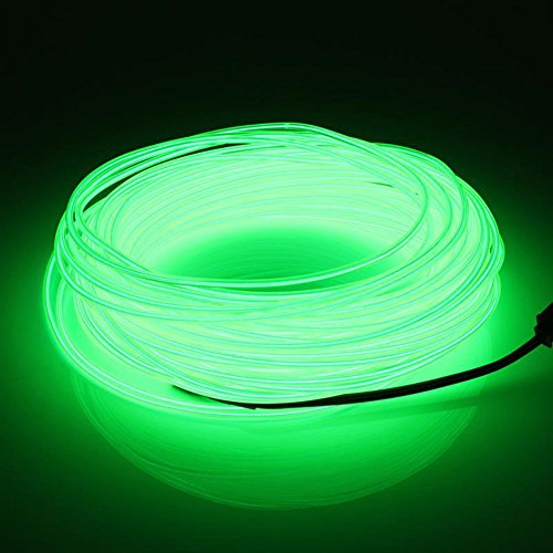 YCDC 4X Dark Green Flexible EL Wire Lights Glow +3V Controller Dance Party Decor by YCDC (Image #2)