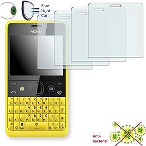 4x DISAGU ClearScreen–Protector de pantalla para Nokia Asha 210antibacteriano, filtro de corte Bluelight–Protector de pantalla