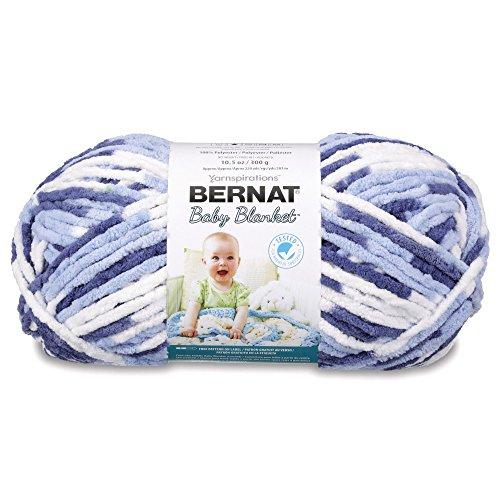 Bernat Baby Blanket Big Ball Yarn, Blue Dreams, Single Ball