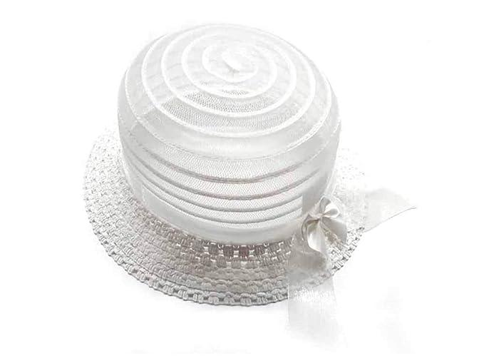 alta moda il più grande sconto negozio di sconto Cappello Bianco Falda Particolare Bambina Bimba Elegante Cerimonia ...