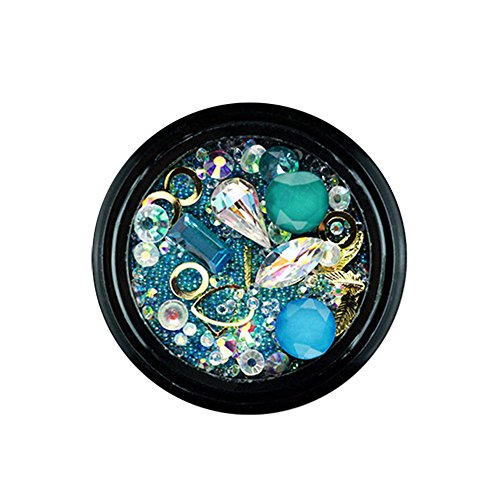 - Ktyssp 9 Colors Nail Art Tips Stickers 3D Glitter Sequins Manicure DIY Irregular Art Decoratio Diamond (I)