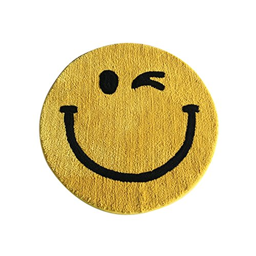 Frjjthchy Cute Smile Kids Rug Round Baby Photo Props Shoots Backdrop Decorative for Nursery Bedroom Living Room (31.50x31.50 In) by Frjjthchy