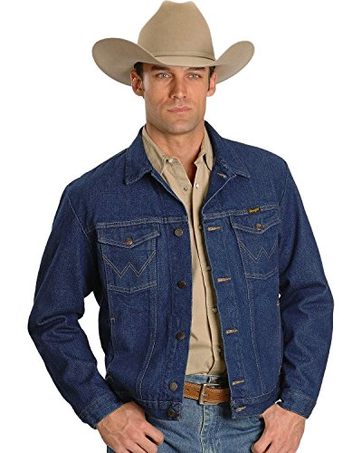 Wrangler Men's Unlined Denim Jacket, Denim, Large by Wrangler