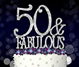 50 & Fabulous, Birthday Cake Toppers, Crystal Rhinestones - Best Reviews Guide