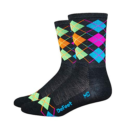 DeFeet Wooleator Argyle Socks, Small, Charcoal
