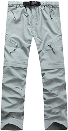 NOBRAND Pantalones de Hombre de Verano Quick Dry Desmontables, Pantalones de Senderismo, Exteriores, Deportivos, Transpirables, para Acampada, Trekking, Longitud del Tobillo