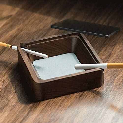 葉巻灰皿, 灰皿ソーラー灰皿車 - 自動車用品/ポータブルブラックベッドルームのための灰皿(カラー:ブラック7.5X7.5X12.5cm)、サイズ:ブラウン11x3.6CM (Size : Brown-11x3.6CM)