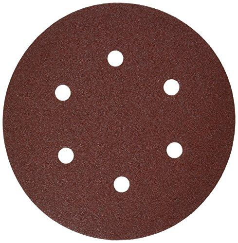 (Bosch SR6R080 5-Piece 80 Grit 6 In. 6 Hole Hook-And-Loop Sanding Discs )