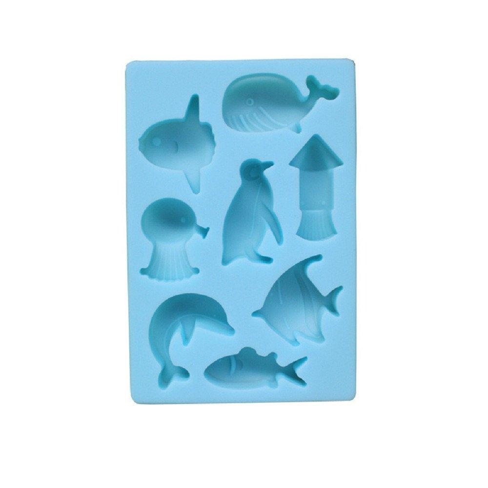 Hermione Hosmer 8 Trous Silicone G/âTeau Moule Baleine Dauphin Poisson Pingouin Forme Formes De Mousse Formes De Gel/éE De Savon De Outils De Cuisson