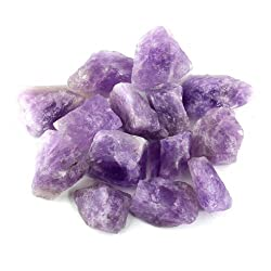 "Crystal Allies Materials: 1lb Bulk Rough Amethyst Quartz Stones From Madagascar - Large 1"" Raw Natural Crystals For Cabbing, Cutting, Lapidary, Tumbling, & Polishing & Reiki Crystal Healingwholesale Lot"