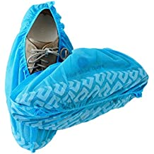 Blue Shoe Guys Premium Disposable Boot & Shoe Covers | Indoor-Outdoor, Durable, Water Resistant, Recyclable | 100-Pack (Large Size Fits Most)