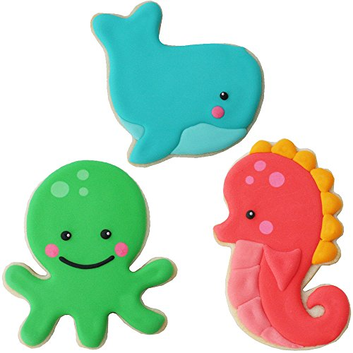 Sweet Elite Tools- Sea Critter Animals Stainless Steel Cookie Cutter Set: Seahorse, Octopus, and Whale By Autumn Carpenter by Sweet Elite Tools