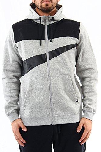 nike Fleece Hybrid Full Zip Hoodie -861712 063-large by NIKE