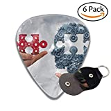 zelda guitar pic - CHJOO Guitar Picks Concept Of Business Training And Skill Development Symbol As Human Hands Holding A Puzzle Piece And Colorful Celluloid Guitar Picks Plectrums For Guitar Bass .71mm 6 Pack