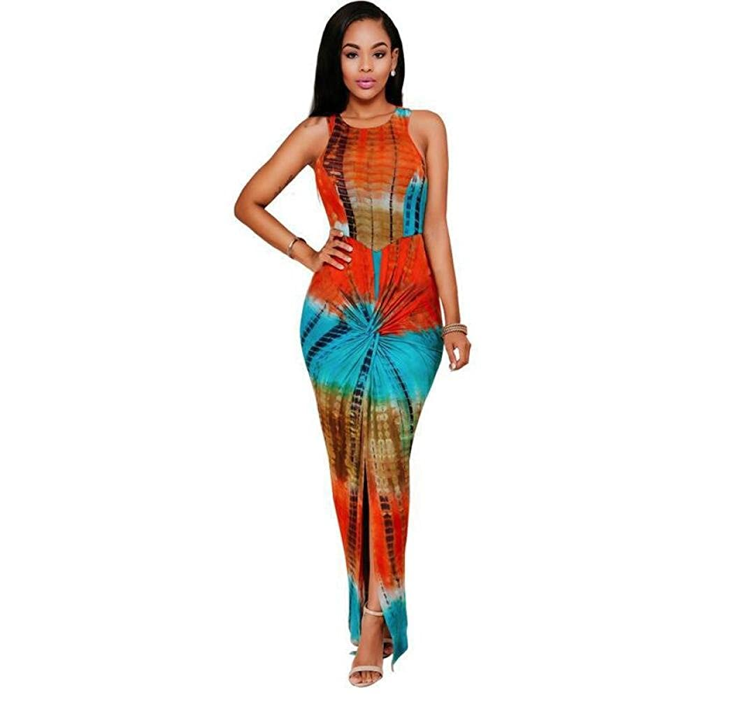 BEAUTYVAN Women African Bodycon Dresses Bohemian Traditional Ethnic Print Club Midi Dress Casual Party Dresses