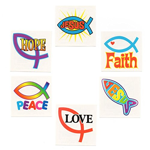 Rhode Island Novelty Jesus Fish Tattoos for $<!--$1.49-->