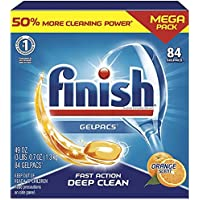 All in 1 Gelpacs Orange, Dishwasher Detergent Tablets 84 count (packaging may vary ) New