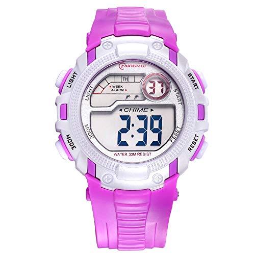 RELOJES PARA NIÑOS Relojes para niños Niños Niños Chicas Deportes Analógico Digital Impermeable LED Luz Negro Azul Rosa Púrpura Rojo Relojes de pulsera ...