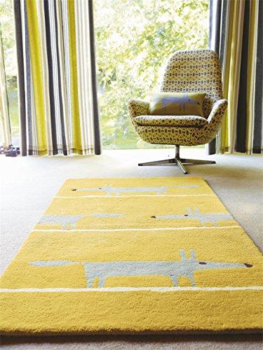 Scion Teppiche Moderner Designer Wollteppich Mr Fox Gelb