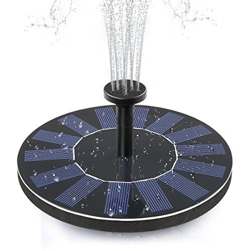 ADDTOP Solar Bird Bath Fountain Pump 1.4W Free Standing Solar Panel Kit Water Pump for Garden, Pond, Pool by ADDTOP