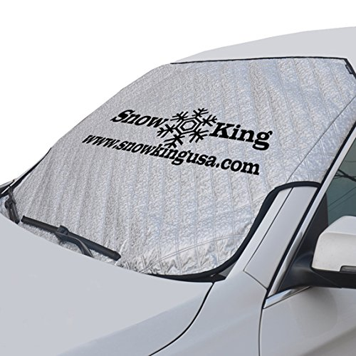 SNOW KING High Density Windshield Cover For SUVs & Sedans – Car Window FrostGuard, Snow & Ice Protector Sun Shade With Larger than Average Storage Bag – Waterproof and Sun-Proof